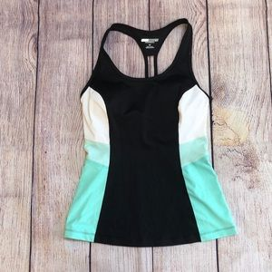 Express core performance athletic top built in bra
